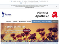 Viktoria-Apotheke website screenshot