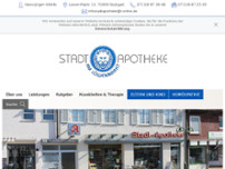 Stadt-Apotheke Weilimdorf website screenshot