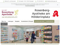 Rosenberg-Apotheke am Hölderlinplatz website screenshot