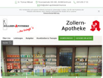 Zollern-Apotheke website screenshot