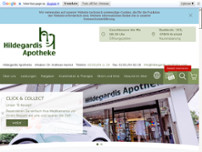 Hildegardis Apotheke website screenshot