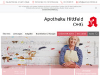 Apotheke Hittfeld OHG website screenshot