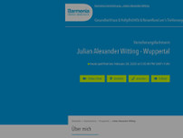 Barmenia Versicherung - Julian Alexander Witting website screenshot