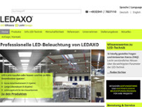 LEDAXO GmbH & Co. KG website screenshot