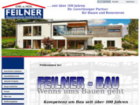 Feilner Bauunternehmen GmbH & Co.KG website screenshot