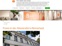 Radiologie 360° - Praxis in der Alleestraße in Remscheid website screenshot