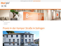 Radiologie 360° - Praxis in der Kamper Straße in Solingen website screenshot
