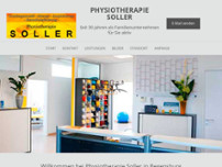 Physiotherapie Sollner website screenshot