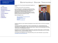 Rechtsanwalt Heiner Thalhofer website screenshot
