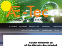 AE-Tec Alternative Energietechnik website screenshot