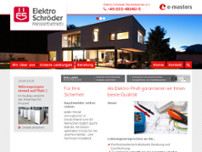 Elektro Schröder  Meisterbetrieb e. K. website screenshot