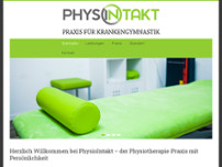 Physiointakt – Praxis für Krankengymnastik Wadim Popov website screenshot