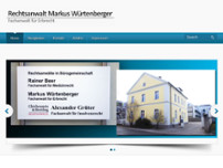 Rechtsanwalt Markus Würtenberger website screenshot