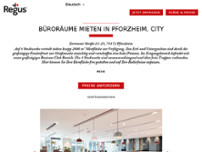 Regus - Pforzheim, City website screenshot