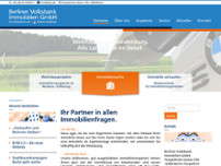 BVBI Berliner Volksbank Immobilien Berlin-Weißensee website screenshot