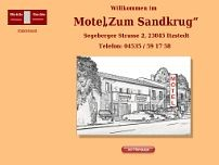 Motel Zum Sandkrug website screenshot