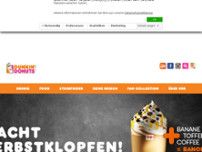 Dunkin' website screenshot