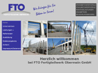 FTO Fertigteilwerk Oberfranken GmbH website screenshot