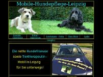 Hundepflege - Leipzig - Mobil website screenshot