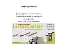 Fliesen Linzmaier website screenshot