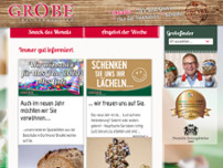 Bäckermeister Grobe GmbH & Co. KG Brechten website screenshot