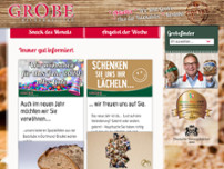 Bäckermeister Grobe GmbH & Co. KG Rewe Wellinghofen website screenshot