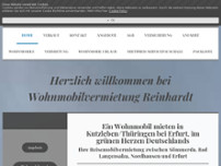 Wohnmobilvermietung Reinhardt website screenshot