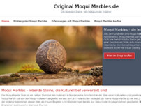 Original Moqui Marbles / Projekt von OPSEDI GbR website screenshot
