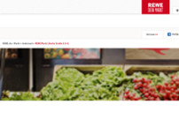 REWE website screenshot