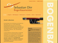 Sebastian Dirr Bogenbaumeister website screenshot