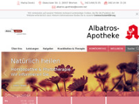 Albatros-Apotheke website screenshot