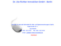 Dr. Richter Immobilien website screenshot