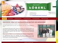 Malermeister Köberl website screenshot