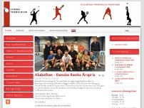 Lyngby Tennis- og Squashcenter website screenshot