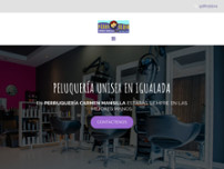 Perruqueria Carmen Mansilla website screenshot