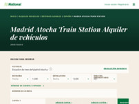 National Car Rental - Estación de Tren de Madrid Atocha website screenshot