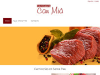 Carnisseria Can Mià website screenshot