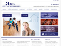Finques Gil Serveis Immobiliaris website screenshot