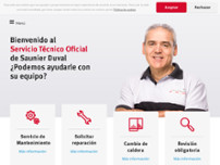 Servicio Técnico Oficial Saunier Duval, Ofisat Madrid website screenshot