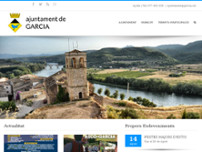 Ajuntament de Garcia website screenshot