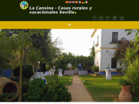 Huerta La Cansina website screenshot