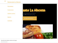 Restaurante La Alacena website screenshot