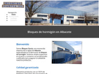 Bloques García website screenshot