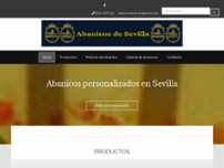 Abanicos Sevilla. Diza-dizal-zadi website screenshot