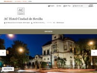 AC Hotel by Marriott Ciudad de Sevilla website screenshot