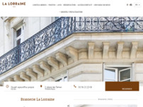 La Lorraine website screenshot