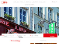 Brasserie Lipp website screenshot