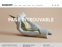Burberry - Closed website screenshot