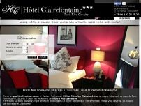 Hotel Clairefontaine website screenshot