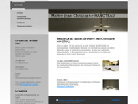Jean-Christophe HANOTEAU website screenshot